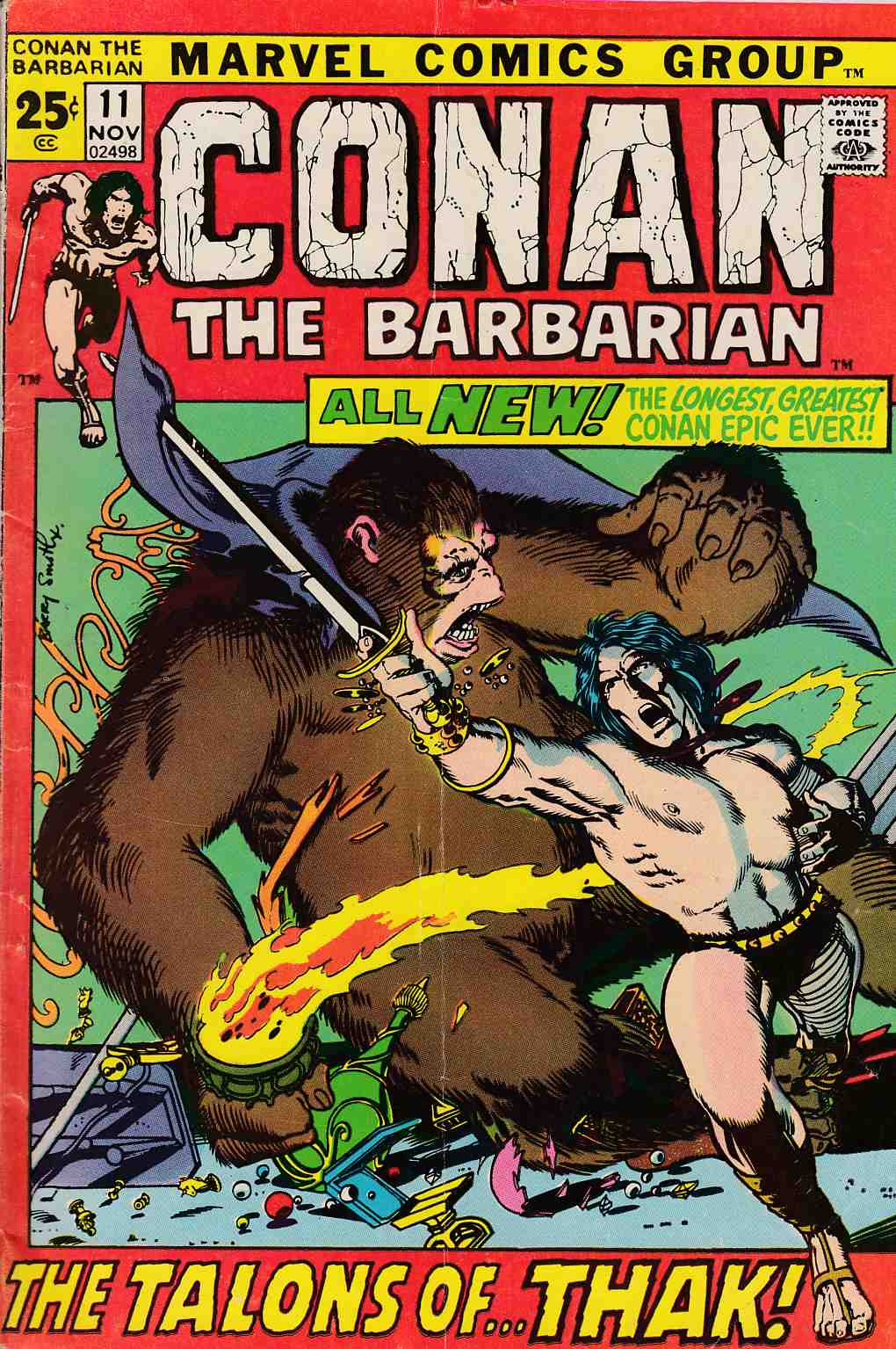 Conan the Barbarian #11 Very Good (4.0) [Marvel Comic]
