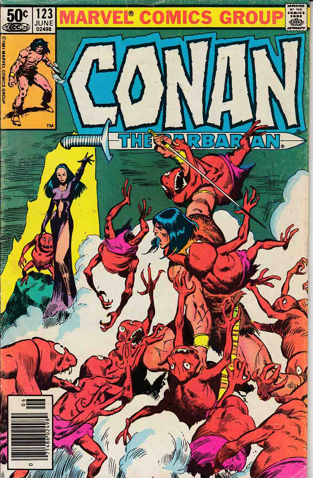 Conan The Barbarian #123 Newsstand Edition Very Good (4.0) [Marvel Comic] LARGE