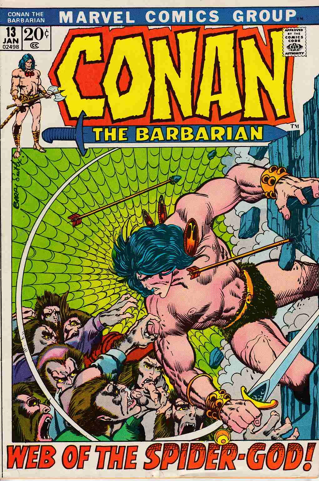 Conan the Barbarian #13 Fine Minus (5.5) [Marvel Comic] LARGE