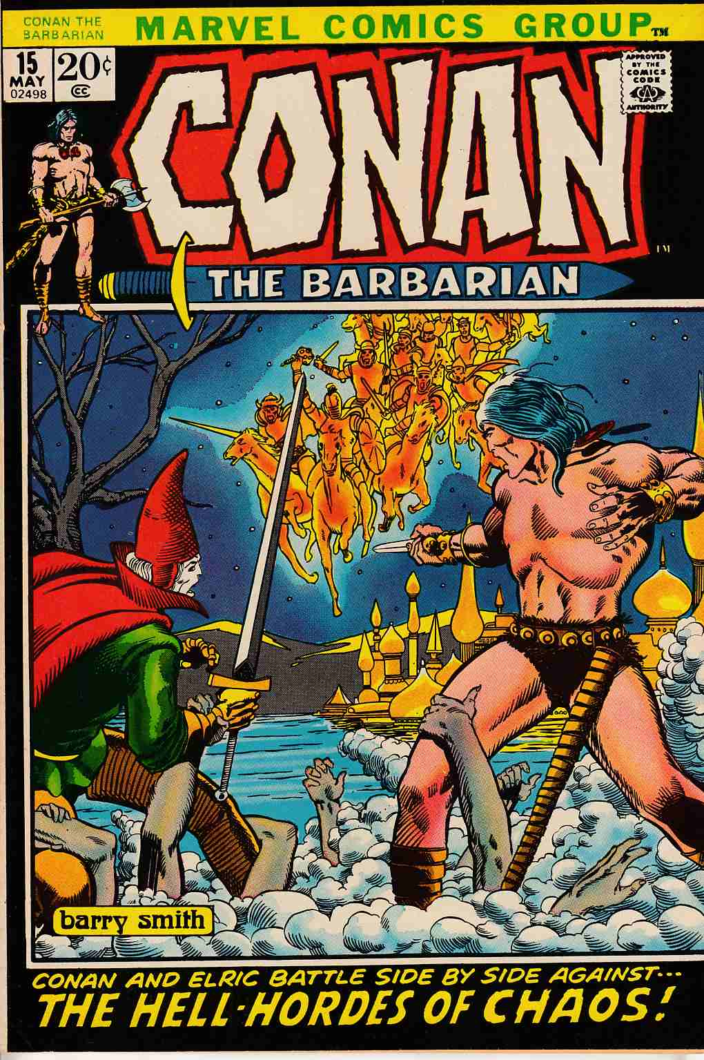 Conan the Barbarian #15 Very Fine Minus (7.5) [Marvel Comic] LARGE