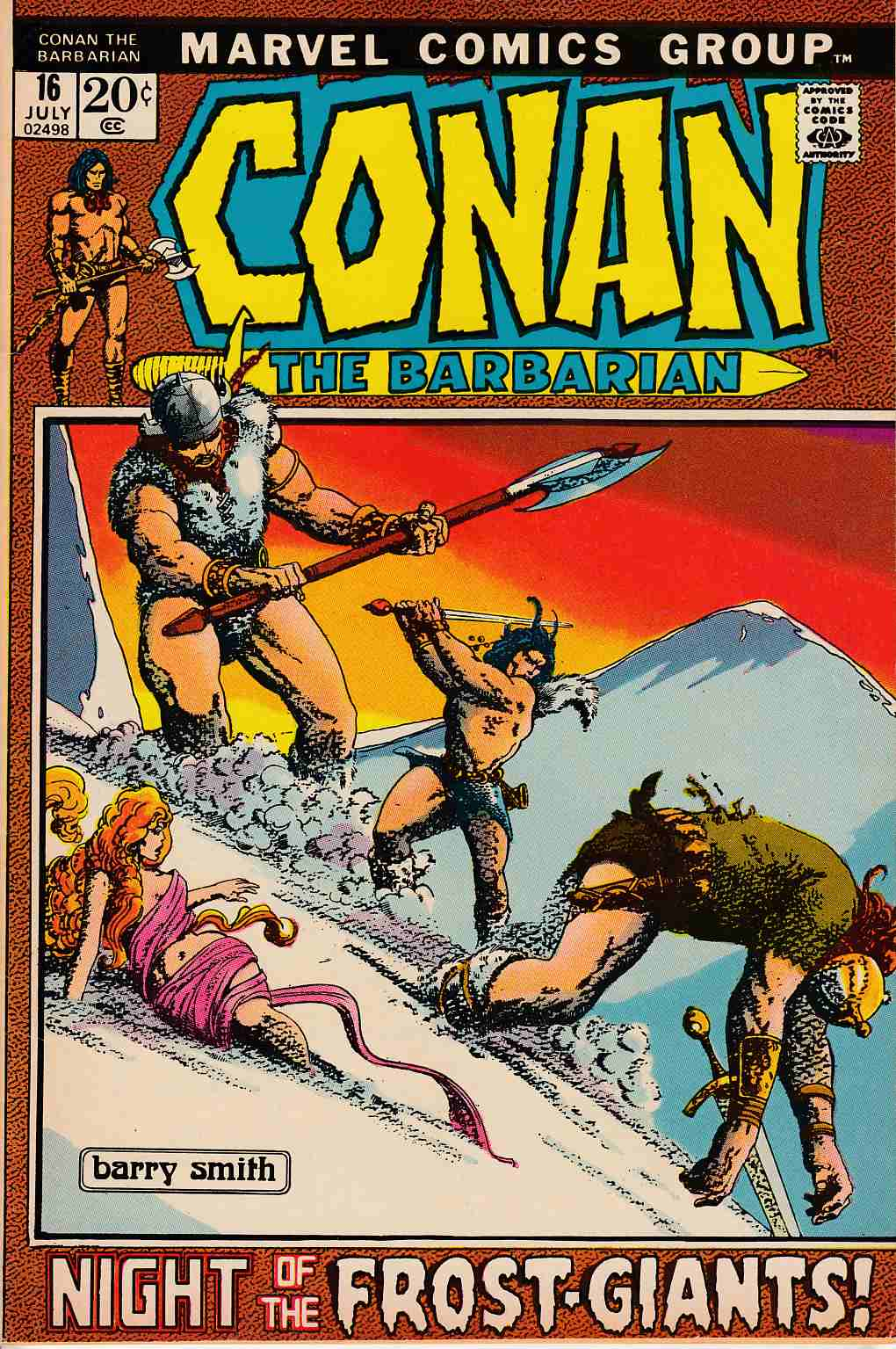 Conan the Barbarian #16 Very Fine (8.0) [Marvel Comic]