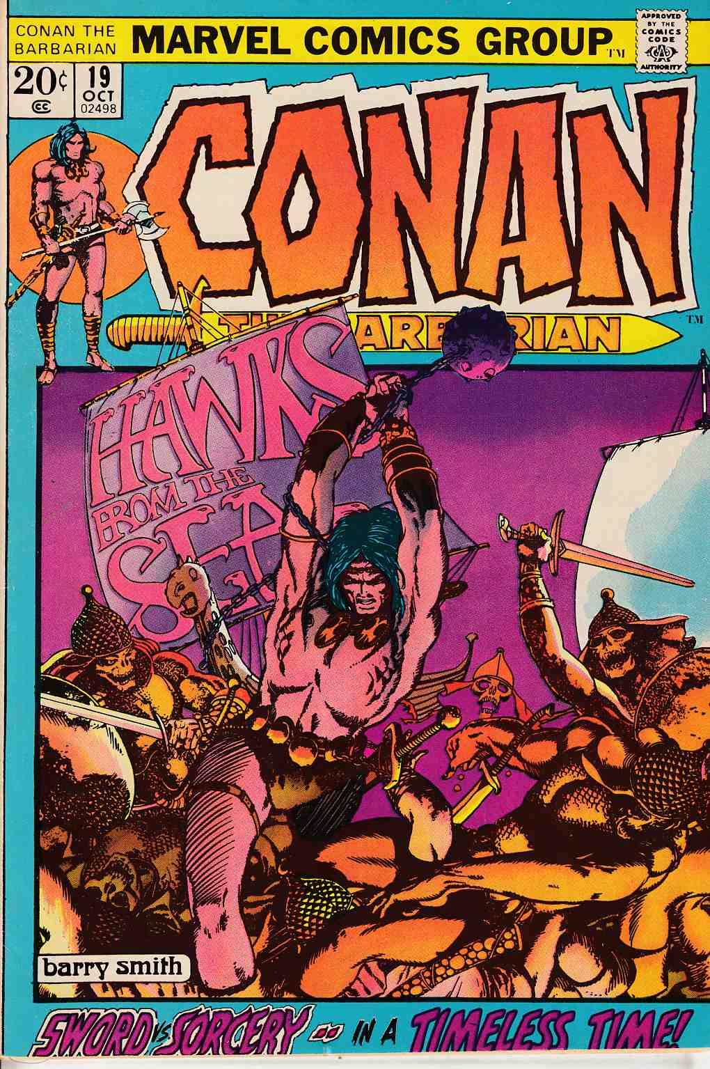Conan the Barbarian #19 Very Fine (8.0) [Marvel Comic] LARGE