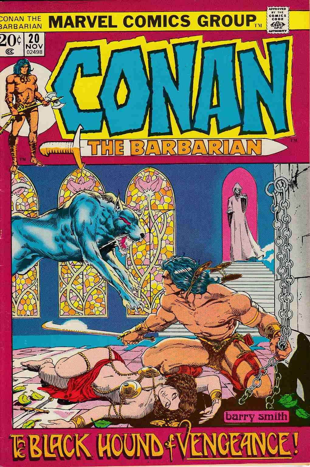 Conan the Barbarian #20 Very Fine Minus (7.5) [Marvel Comic]