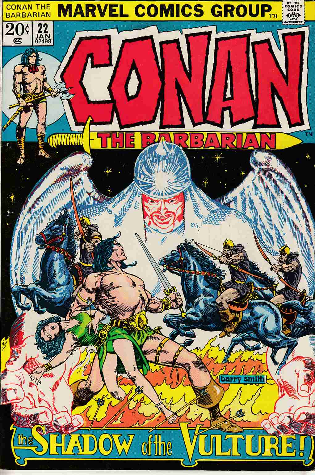 Conan the Barbarian #22 Fine Plus (6.5) [Marvel Comic] LARGE