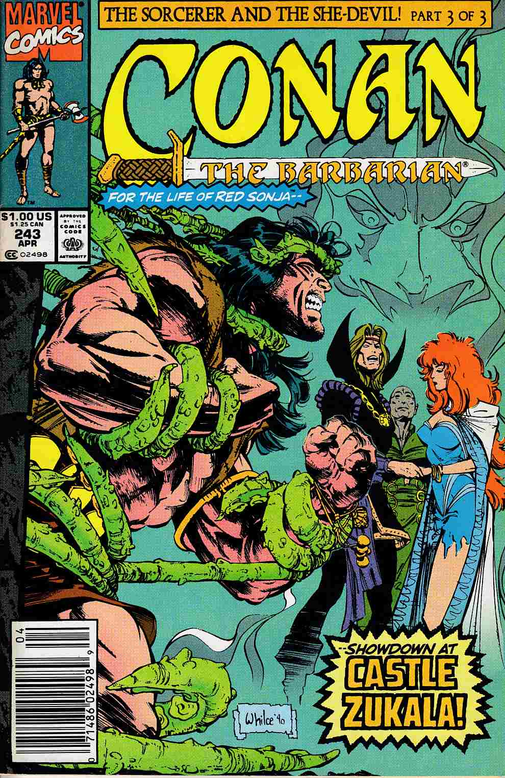 Conan the Barbarian #243 Newsstand Edition Fine Plus (6.5) [Marvel Comic] LARGE