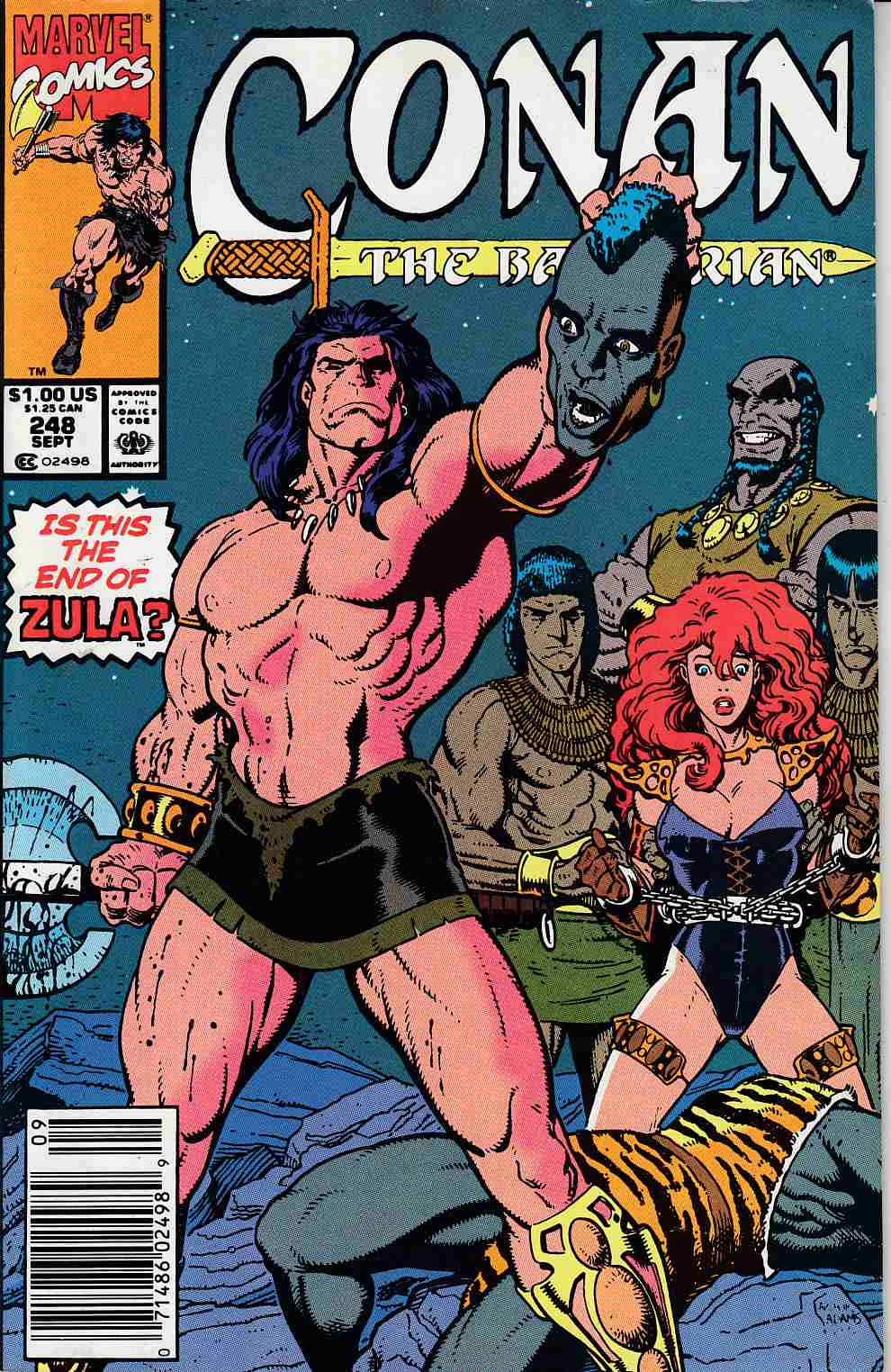 Conan the Barbarian #248 Newsstand Edition Fine (6.0) [Marvel Comic] LARGE