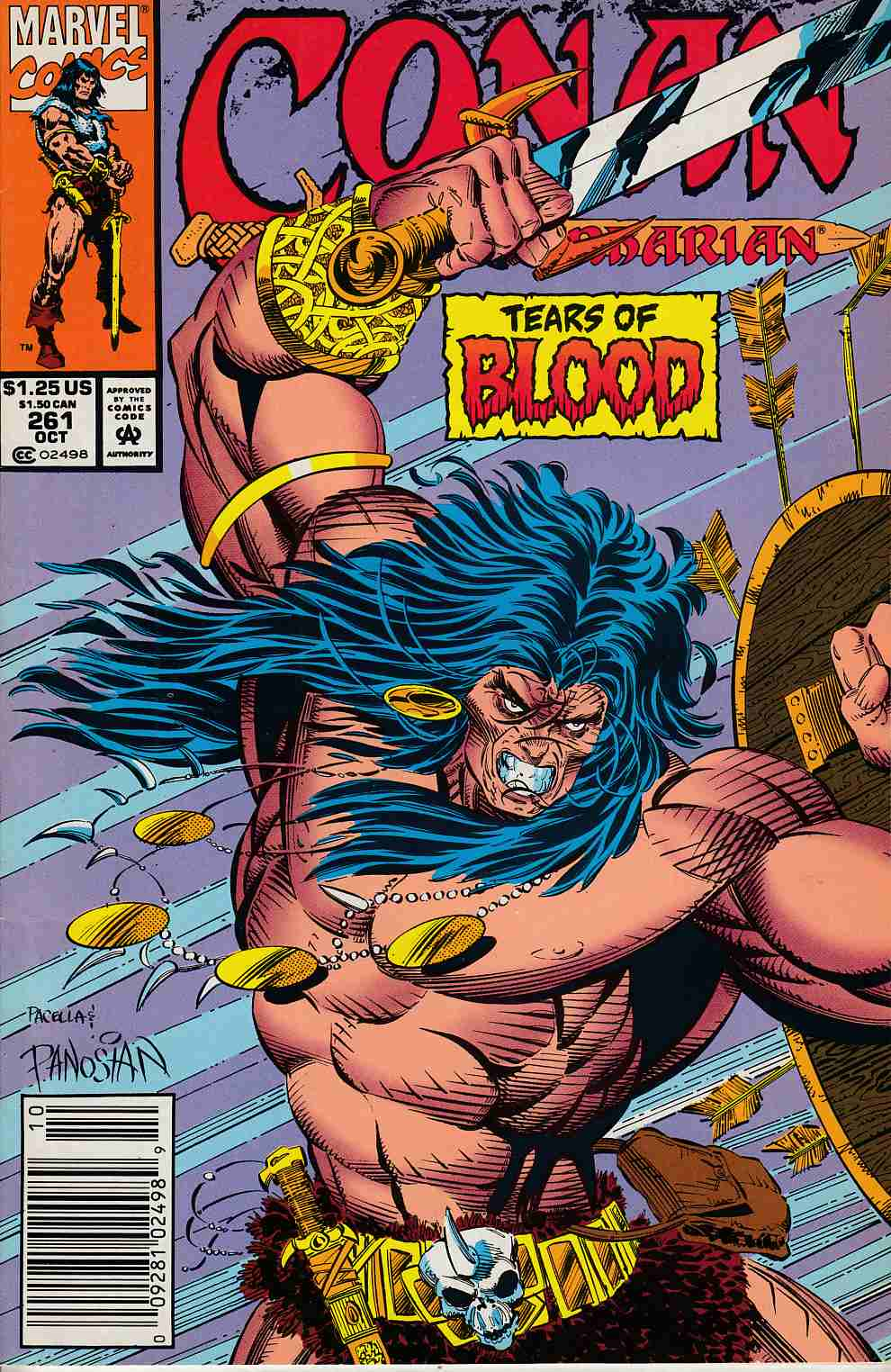 Conan the Barbarian #261 Newsstand Edition Very Fine (8.0) [Marvel Comic] LARGE