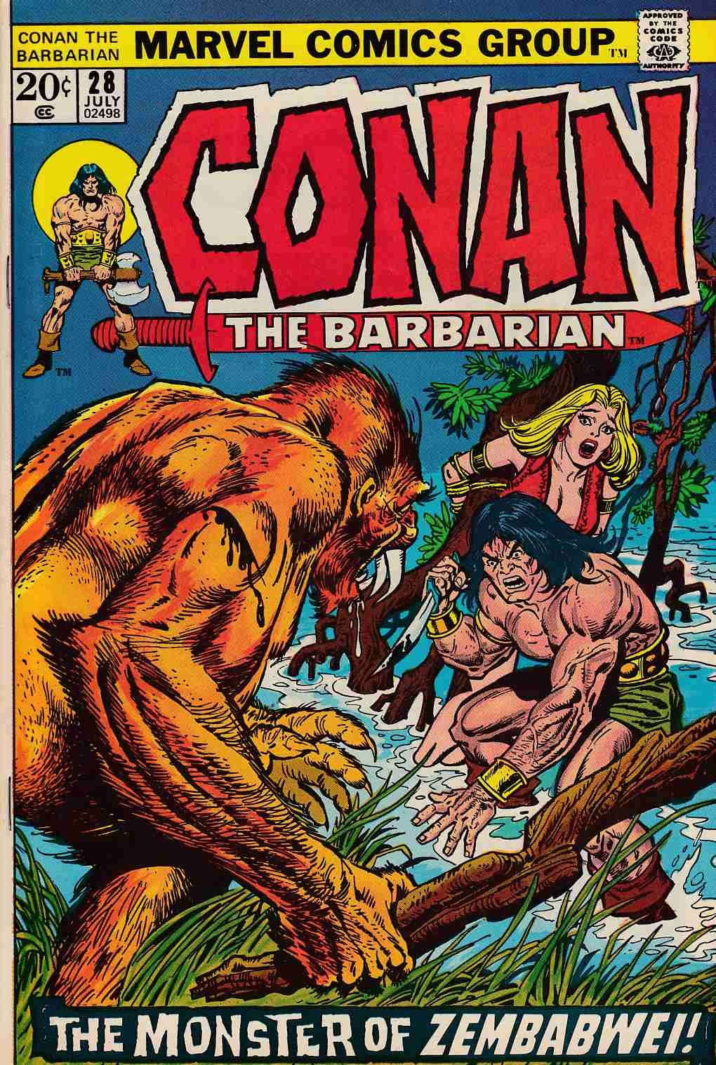 Conan the Barbarian #28 Very Fine Minus (7.5) [Marvel Comic] LARGE