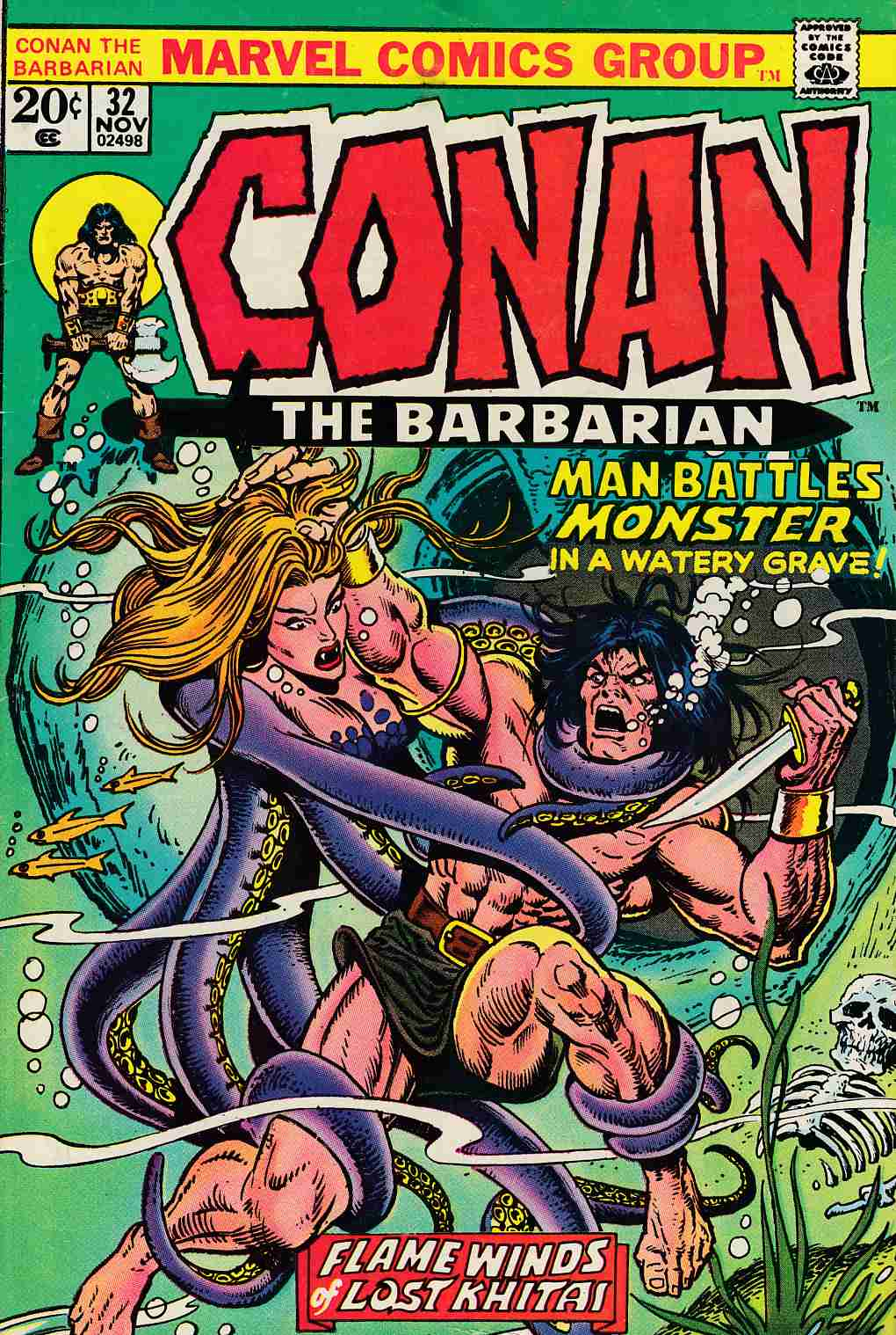 Conan the Barbarian #32 Fine (6.0) [Marvel Comic] LARGE