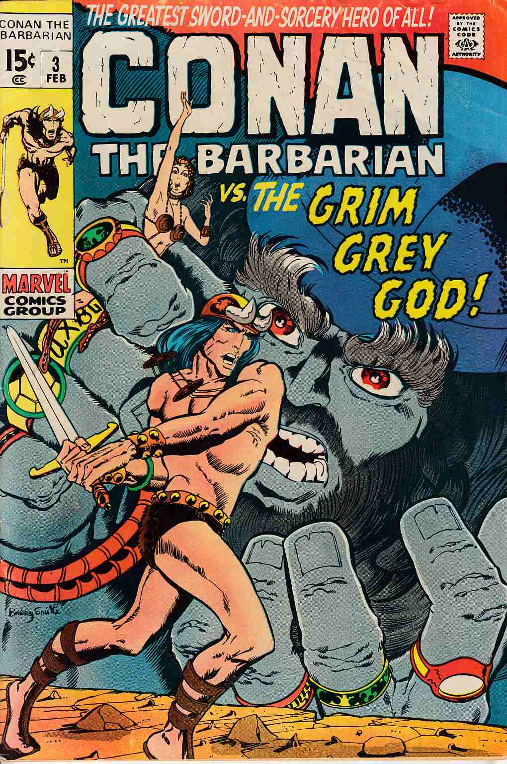 Conan the Barbarian #3 Very Good Plus (4.5) [Marvel Comic]
