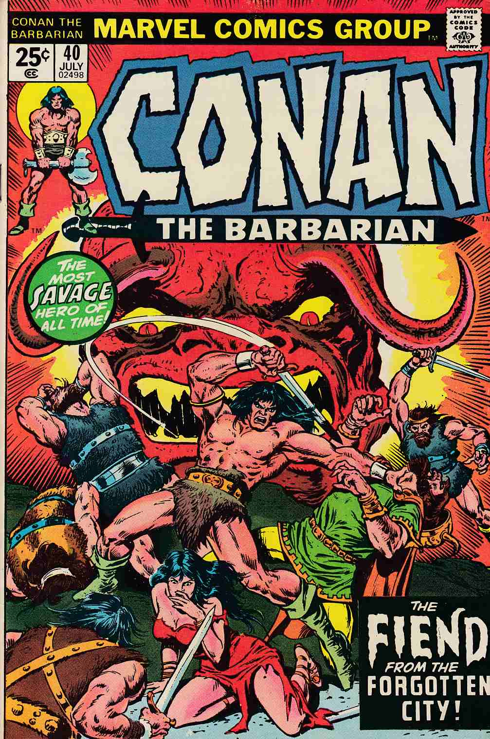 Conan the Barbarian #40 Very Fine/Near Mint (9.0) [Marvel Comic] LARGE
