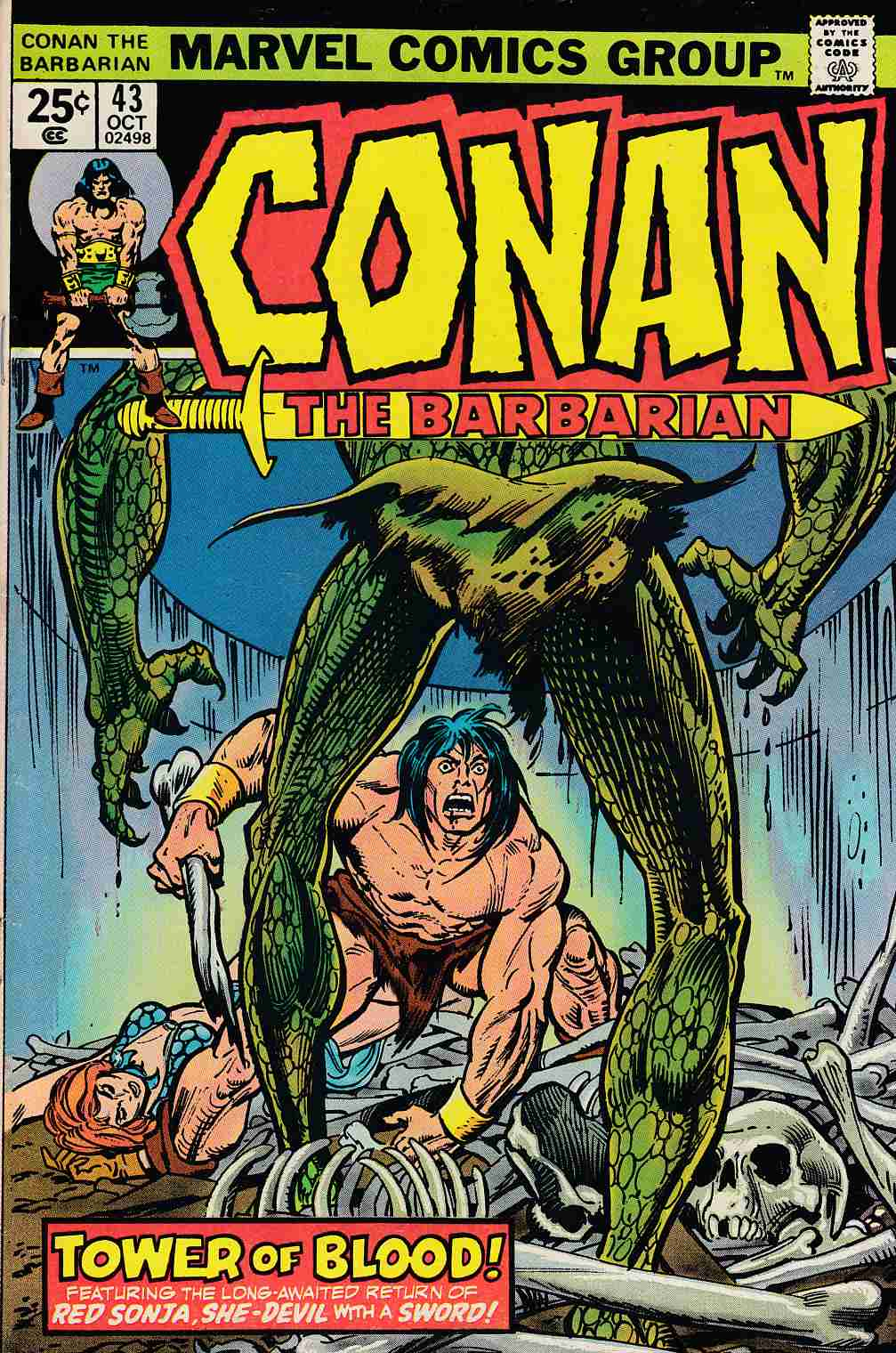 Conan the Barbarian #43 Very Good Plus (4.5) [Marvel Comic] LARGE
