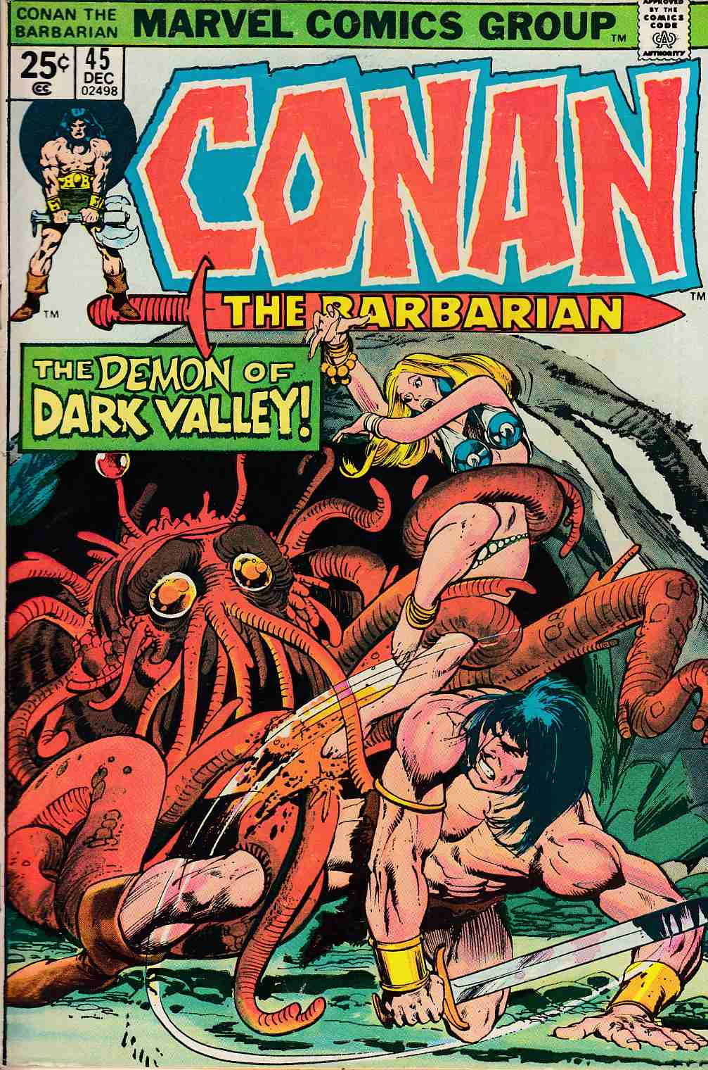 Conan the Barbarian #45 Fine (6.0) [Marvel Comic] LARGE
