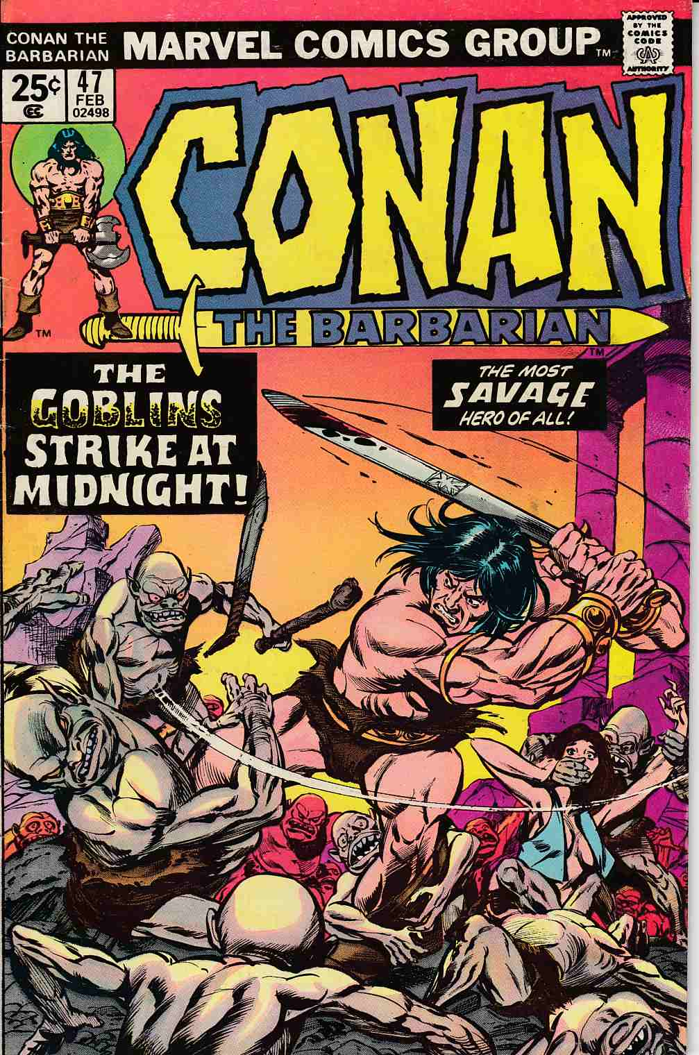 Conan the Barbarian #47 Fine Plus (6.5) [Marvel Comic] LARGE