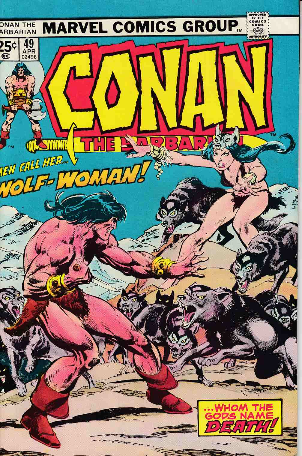 Conan the Barbarian #49 Very Fine Minus (7.5) [Marvel Comic] LARGE