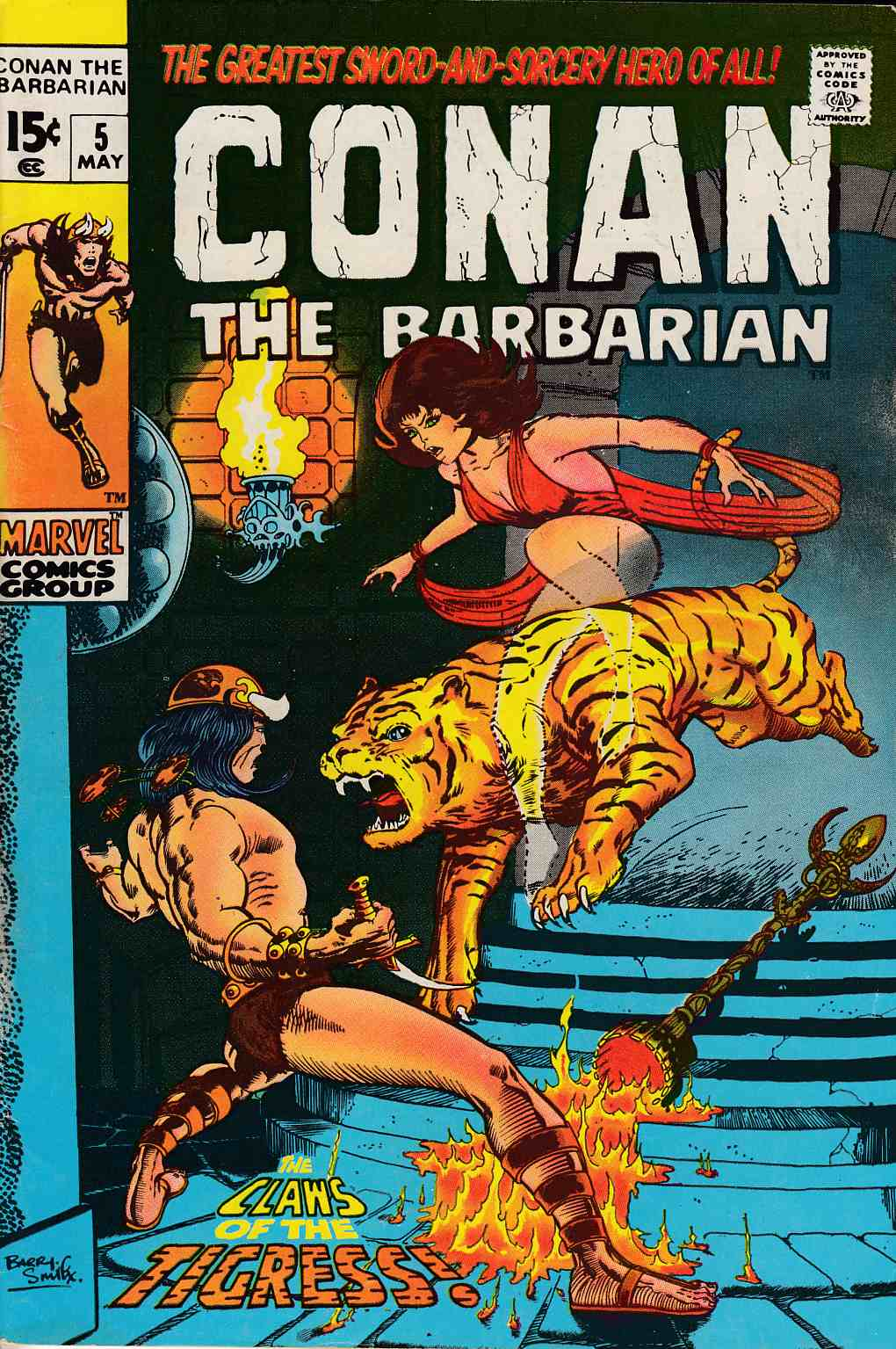 Conan the Barbarian #5 Very Fine Minus (7.5) [Marvel Comic] LARGE