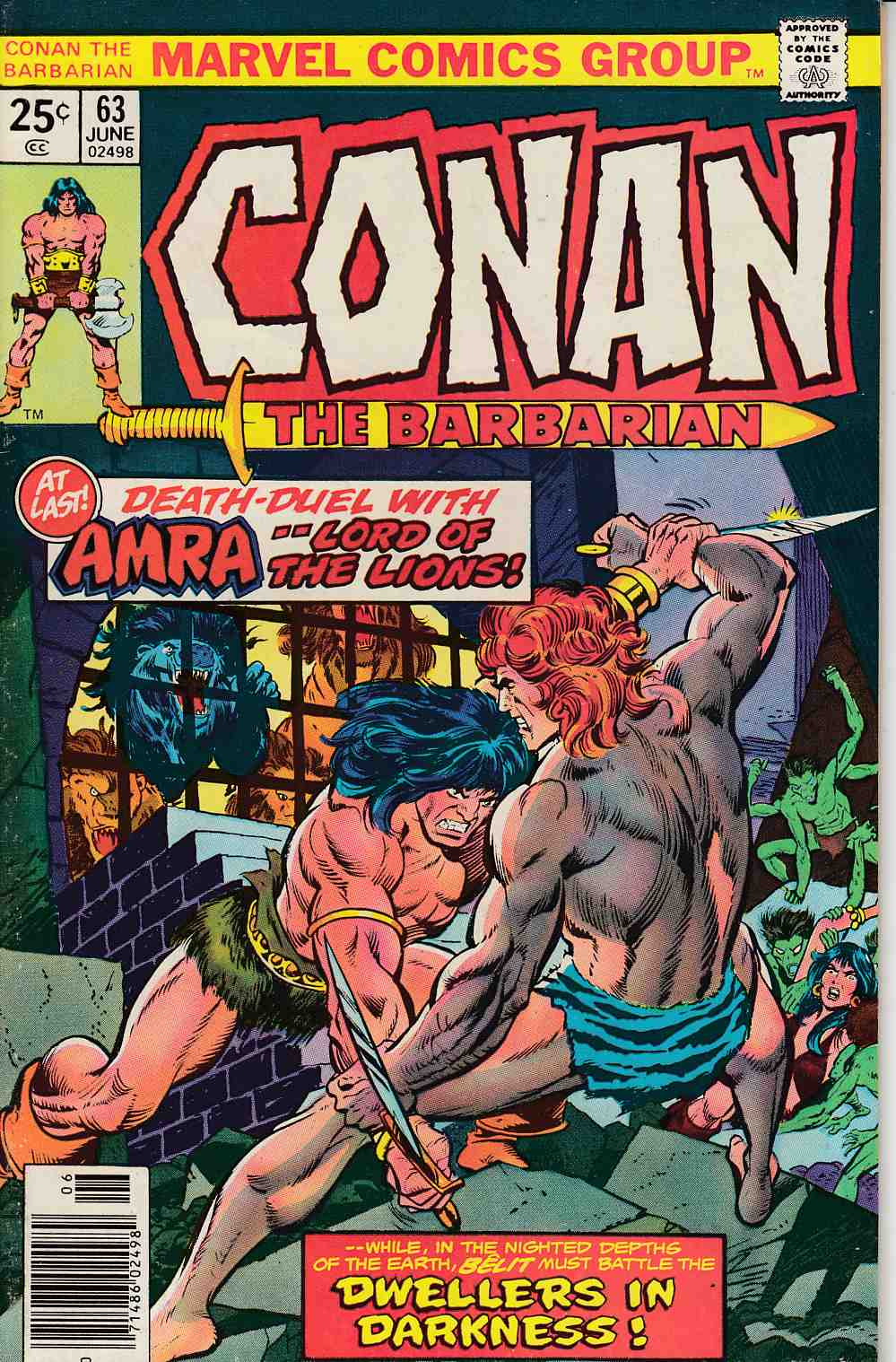 Conan the Barbarian #63 Very Fine (8.0) [Marvel Comic] LARGE