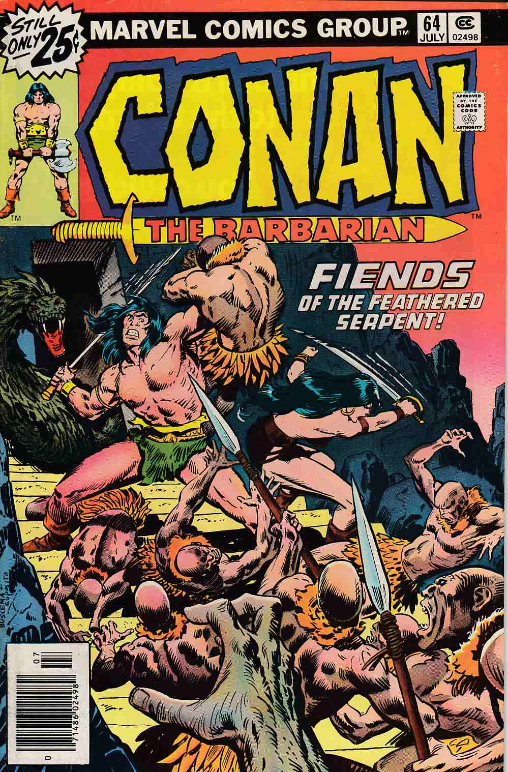 Conan the Barbarian #64 Fine Plus (6.5) [Marvel Comic] LARGE