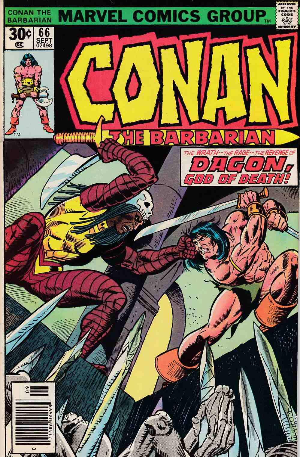 Conan the Barbarian #66 Very Fine  (8.0) [Marvel Comic] LARGE