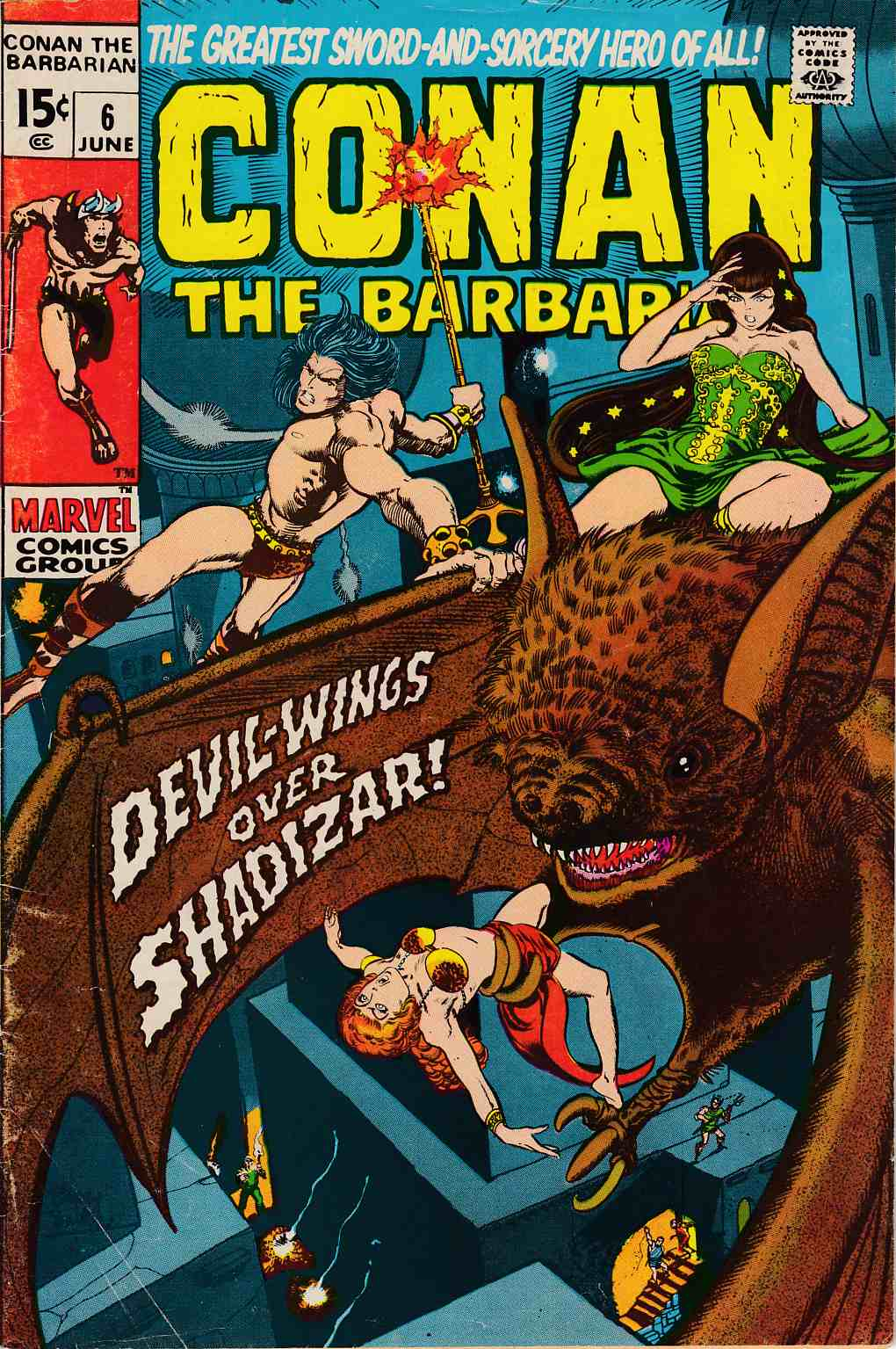Conan the Barbarian #6 Very Good Plus (4.5) [Marvel Comic]_LARGE