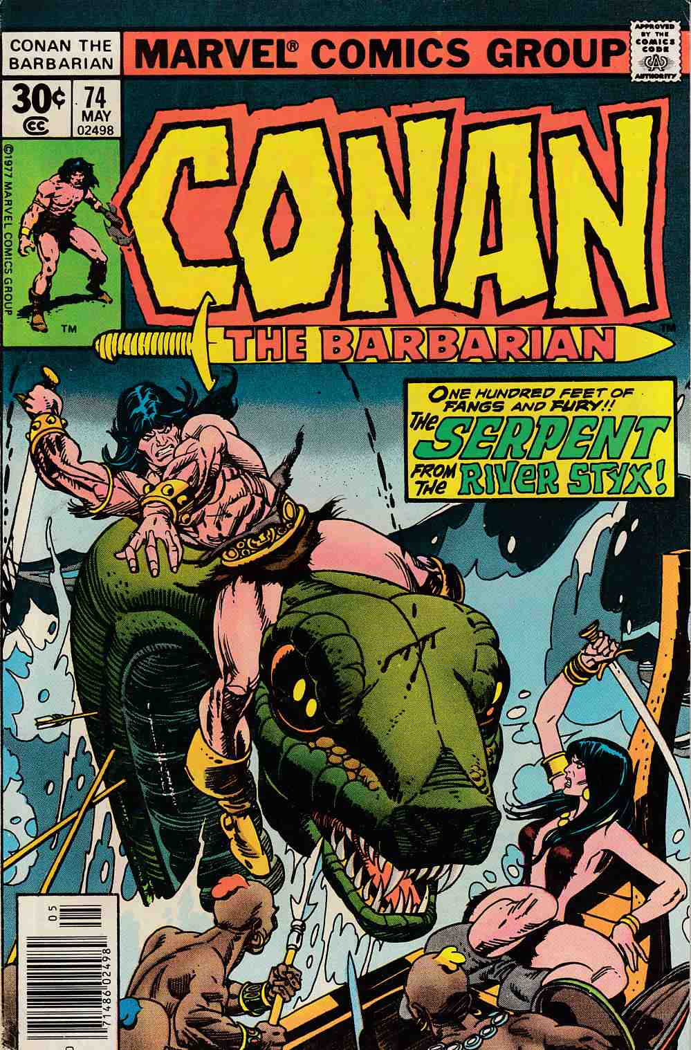 Conan the Barbarian #74 Fine Minus (5.5) [Marvel Comic] LARGE