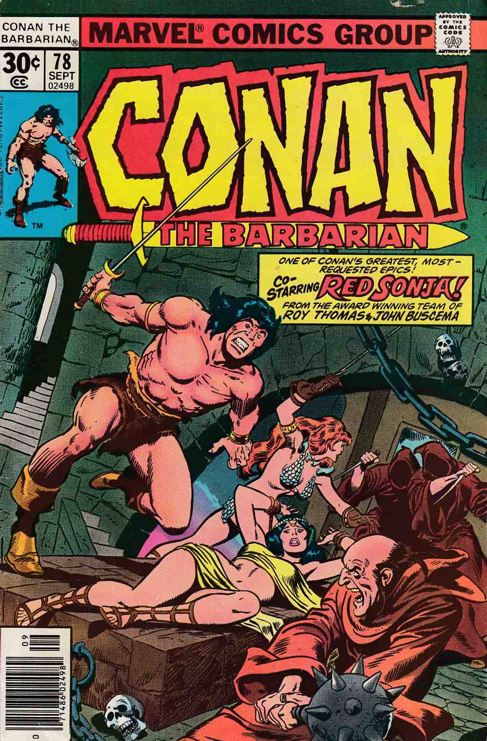 Conan the Barbarian #78 Very Good (4.0) [Marvel Comic] LARGE