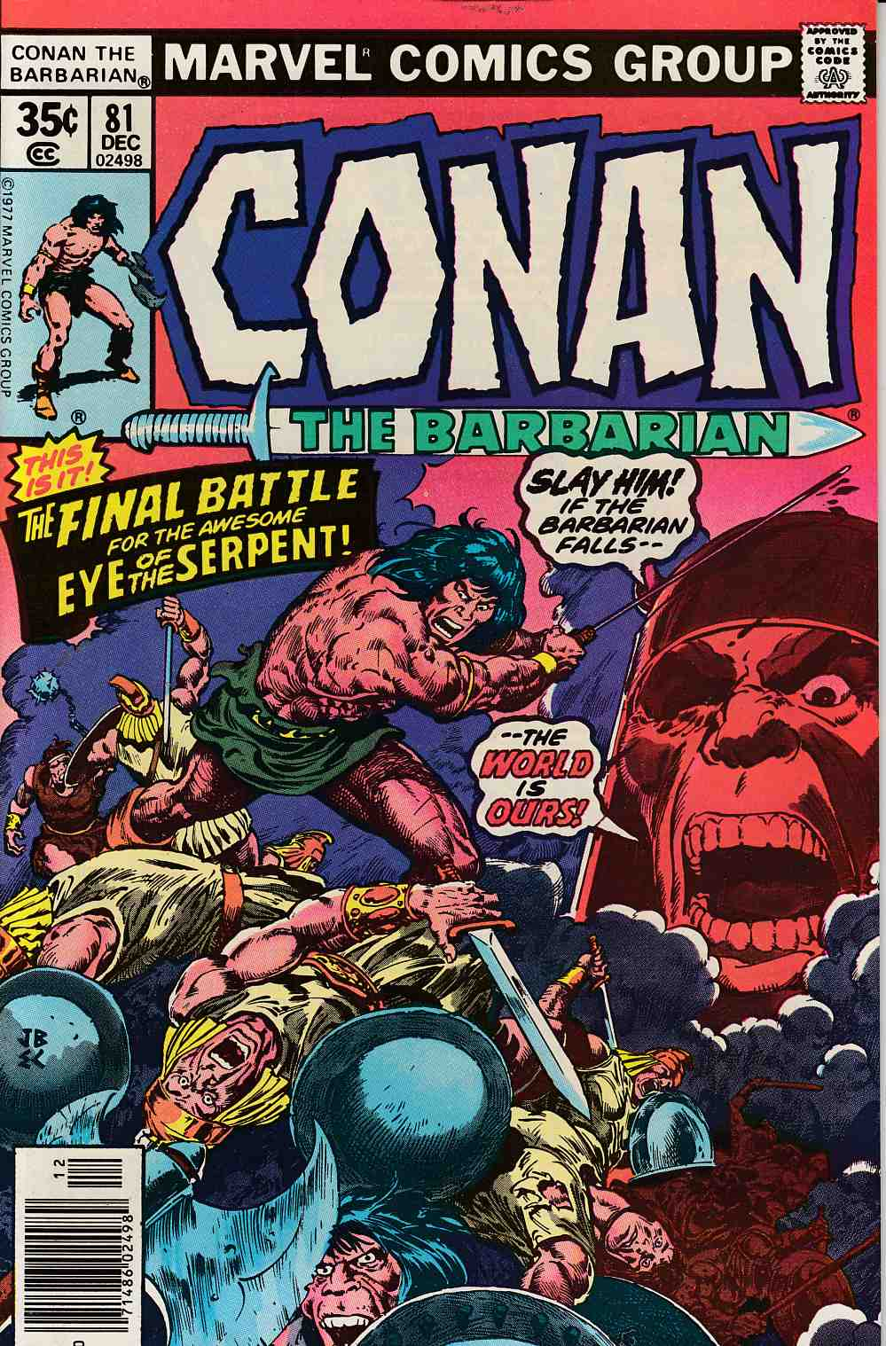Conan the Barbarian #81 Very Fine Minus (7.5) [Marvel Comic] LARGE