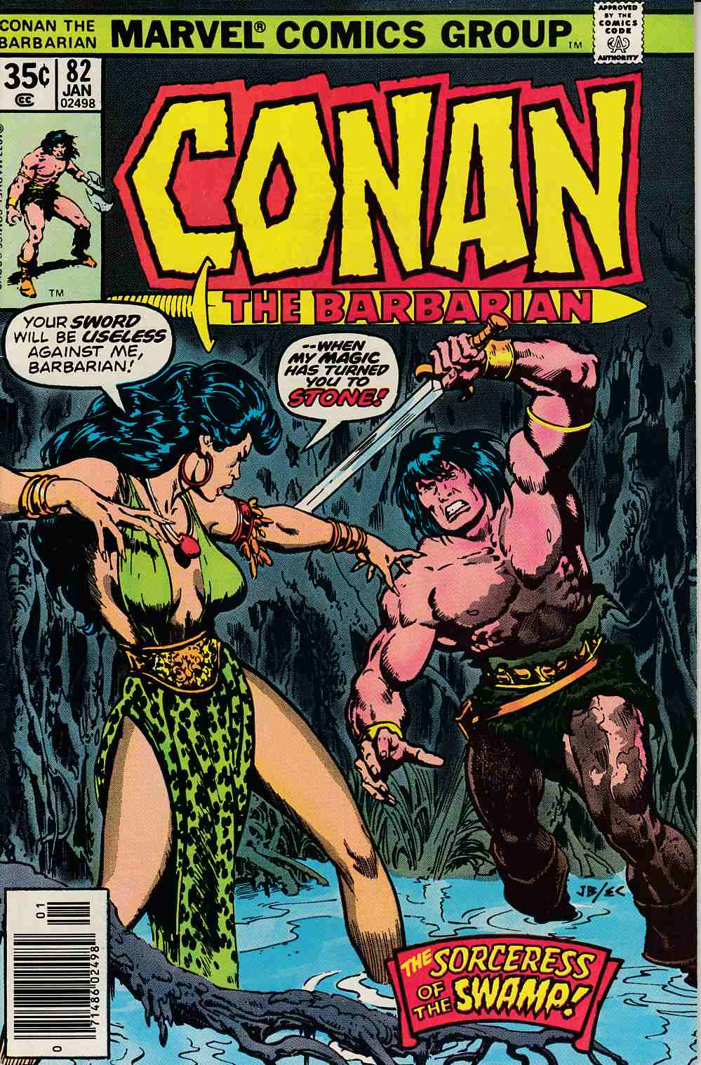 Conan the Barbarian #82 Fine (6.0) [Marvel Comic] LARGE