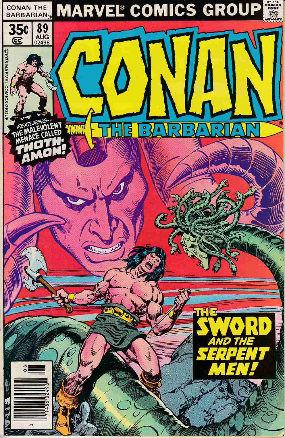 Conan the Barbarian #89 Very Fine Minus (7.5) [Marvel Comic] LARGE