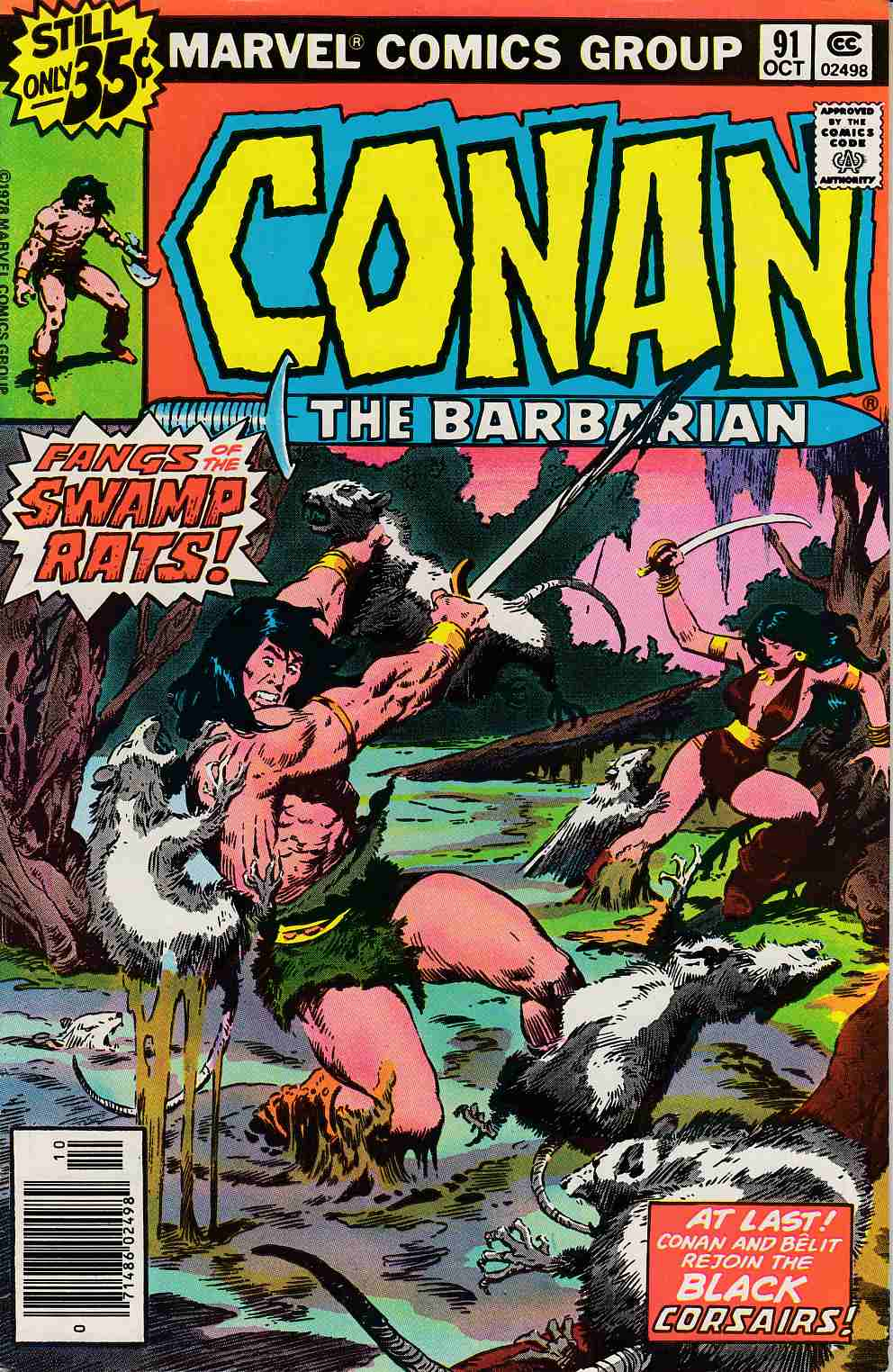 Conan the Barbarian #91 Very Fine (8.0) [Marvel Comic] LARGE