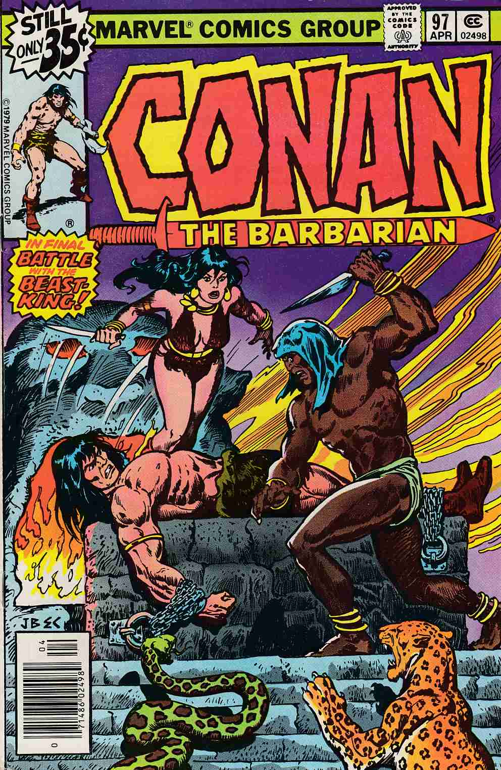 Conan the Barbarian #97 Very Fine (8.0) [Marvel Comic] LARGE