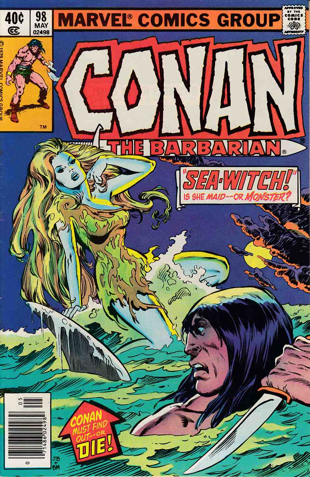 Conan the Barbarian #98 Very Fine (8.0) [Marvel Comic] LARGE