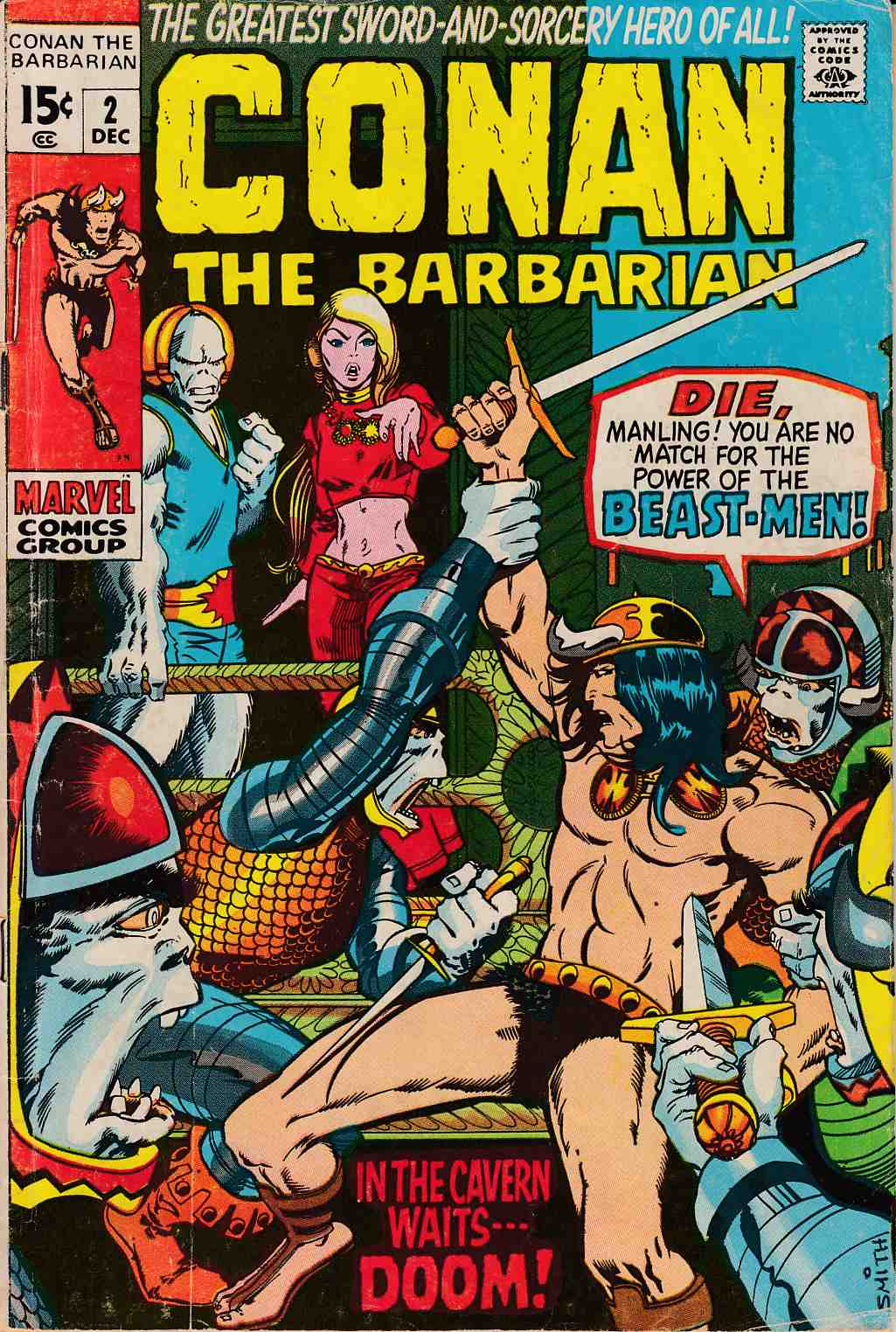 Conan the Barbarian #2 Good/Very Good (3.0) [Marvel Comic]