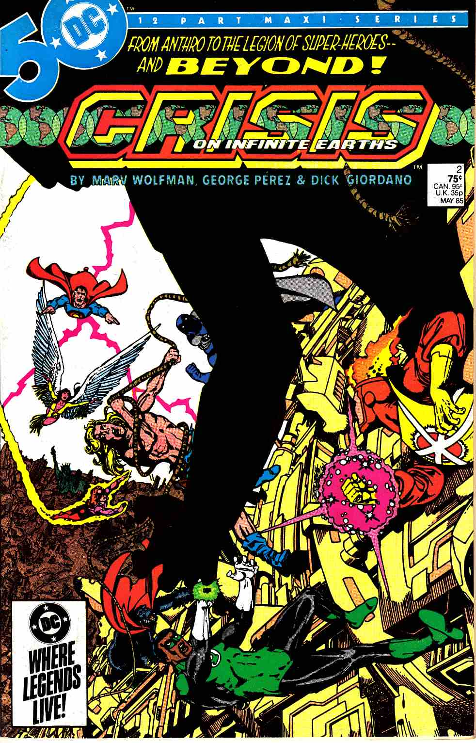 Crisis On Infinite Earths #2 Very Fine (8.0) [DC Comic] LARGE