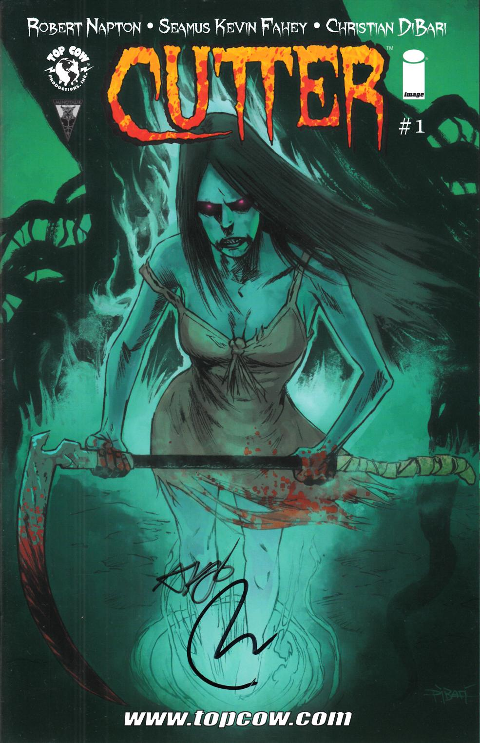 Cutter #1 Signed Incentive Variant Cover [Comic] THUMBNAIL