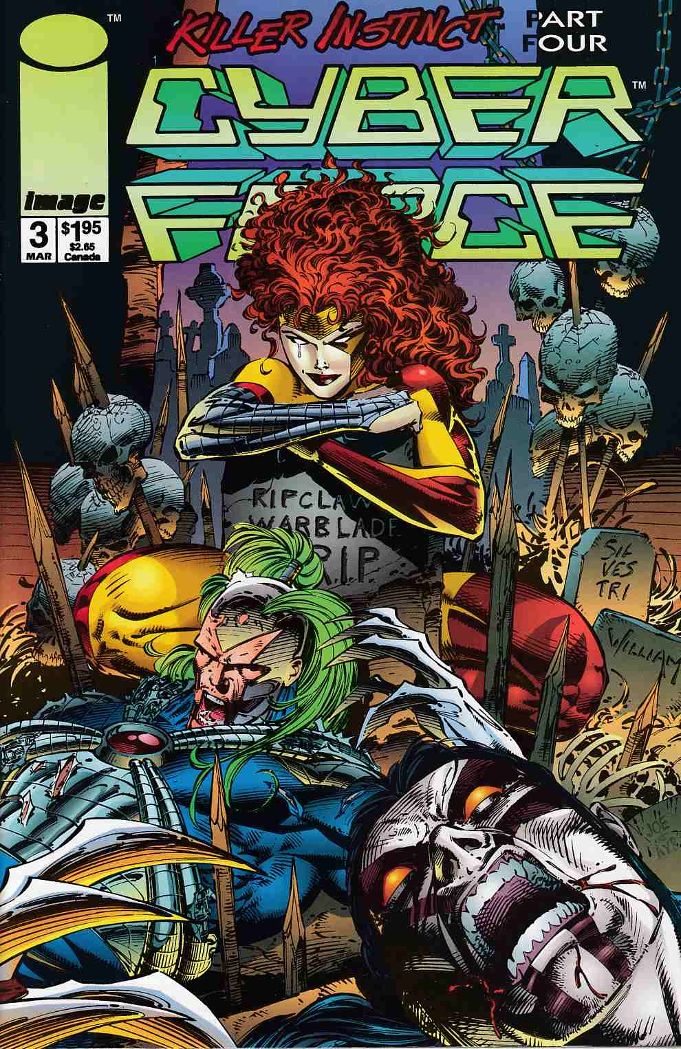 Cyberforce #3 Near Mint (9.4) [Image Comic] THUMBNAIL