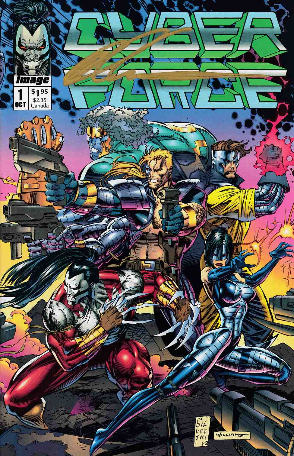 Cyberforce #1 Signed by Silvestri Near Mint Minus (9.2) [Image Comic] THUMBNAIL