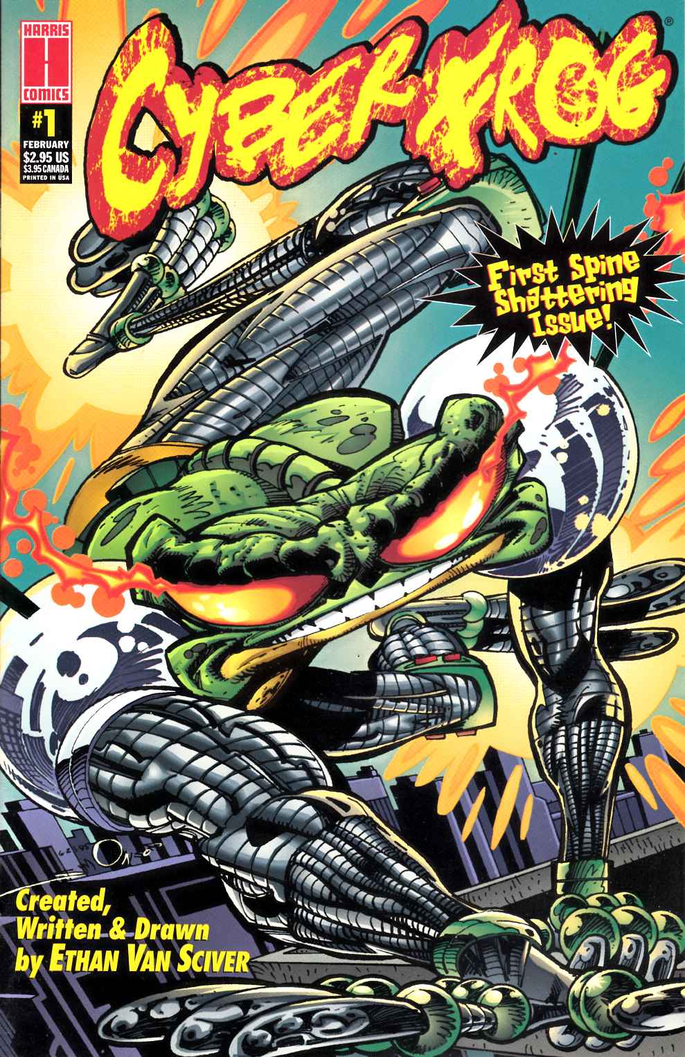 Cyberfrog #1 Near Mint Minus (9.2) [Harris Comic] THUMBNAIL