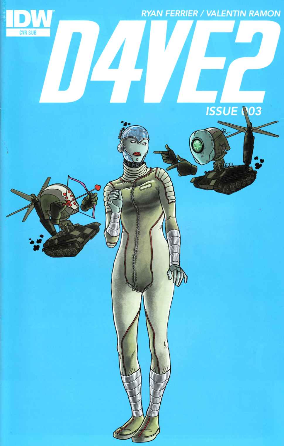 D4Ve2 #3 Subscription Cover [IDW Comic] THUMBNAIL