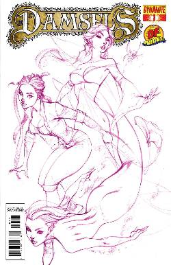 Damsels #1 DF Purple Campbell Exclusive Cover [Comic]