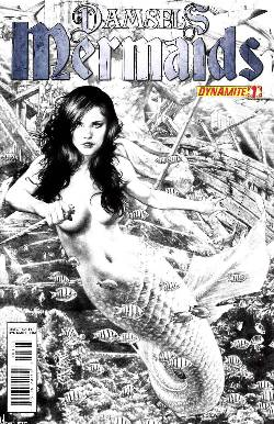 Damsels Mermaids #1 Anacleto B&W Incentive Cover [Comic] LARGE