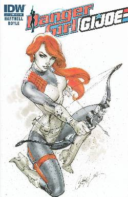 Danger Girl GI Joe #2 Cover B- Campbell Character [Comic] LARGE