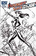Danger Girl GI Joe #4 Cover RI- Campbell Sketch [Comic]_THUMBNAIL
