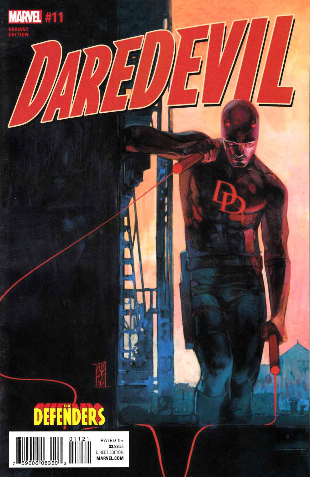 Daredevil #11 Maleev Defenders Variant Cover [Marvel Comic] LARGE