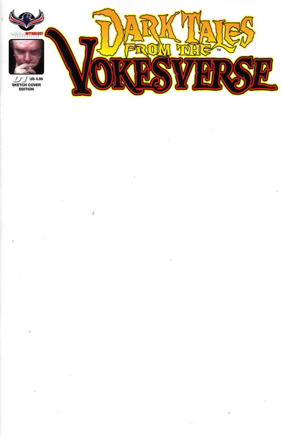 Dark Tales From the Vokesverse #1 Blank Sketch Cover [American Myth Comic] LARGE
