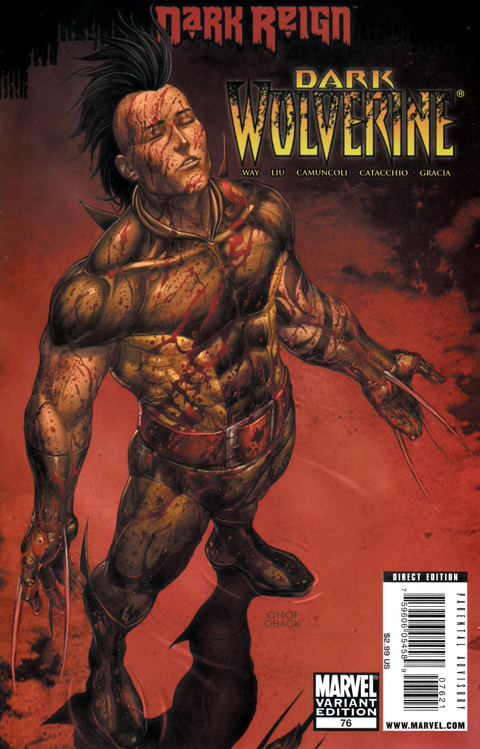 Dark Wolverine #76 Choi Young Guns Variant Cover [Marvel Comic]_LARGE