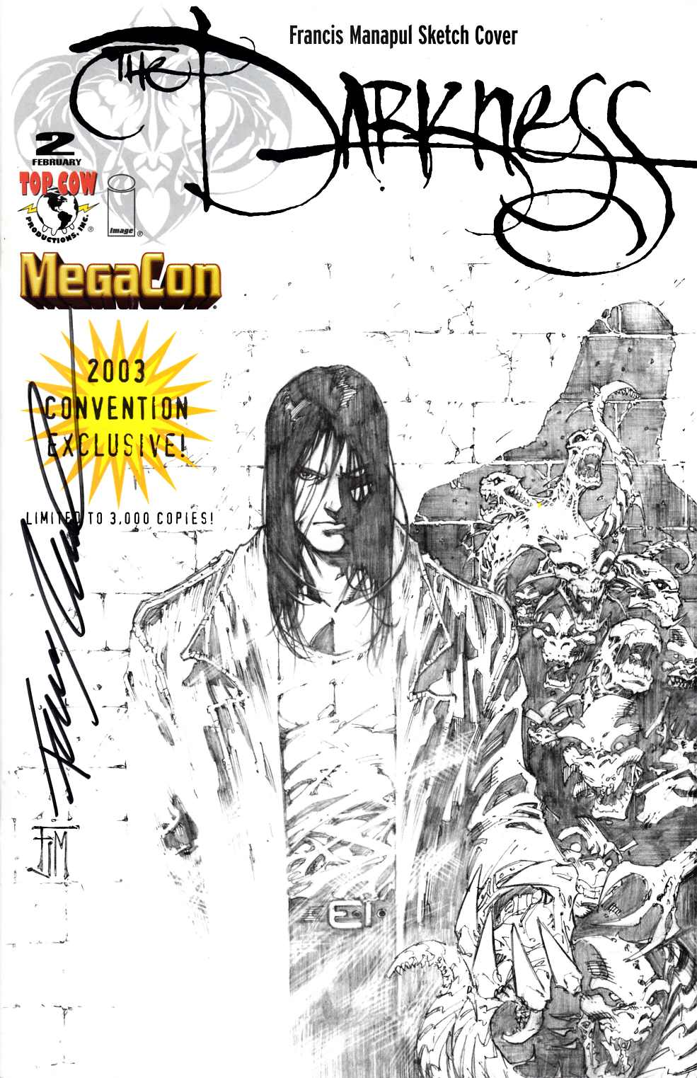 Darkness #2 MegaCon Exclusive Signed by Manapul Near Mint Minus (9.2) [Image Comic]