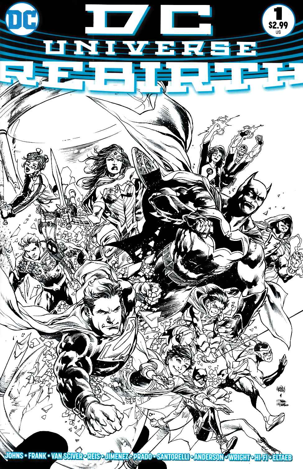 DC Universe Rebirth #1 Limited Edition B&W Variant Cover [DC Comic]_THUMBNAIL
