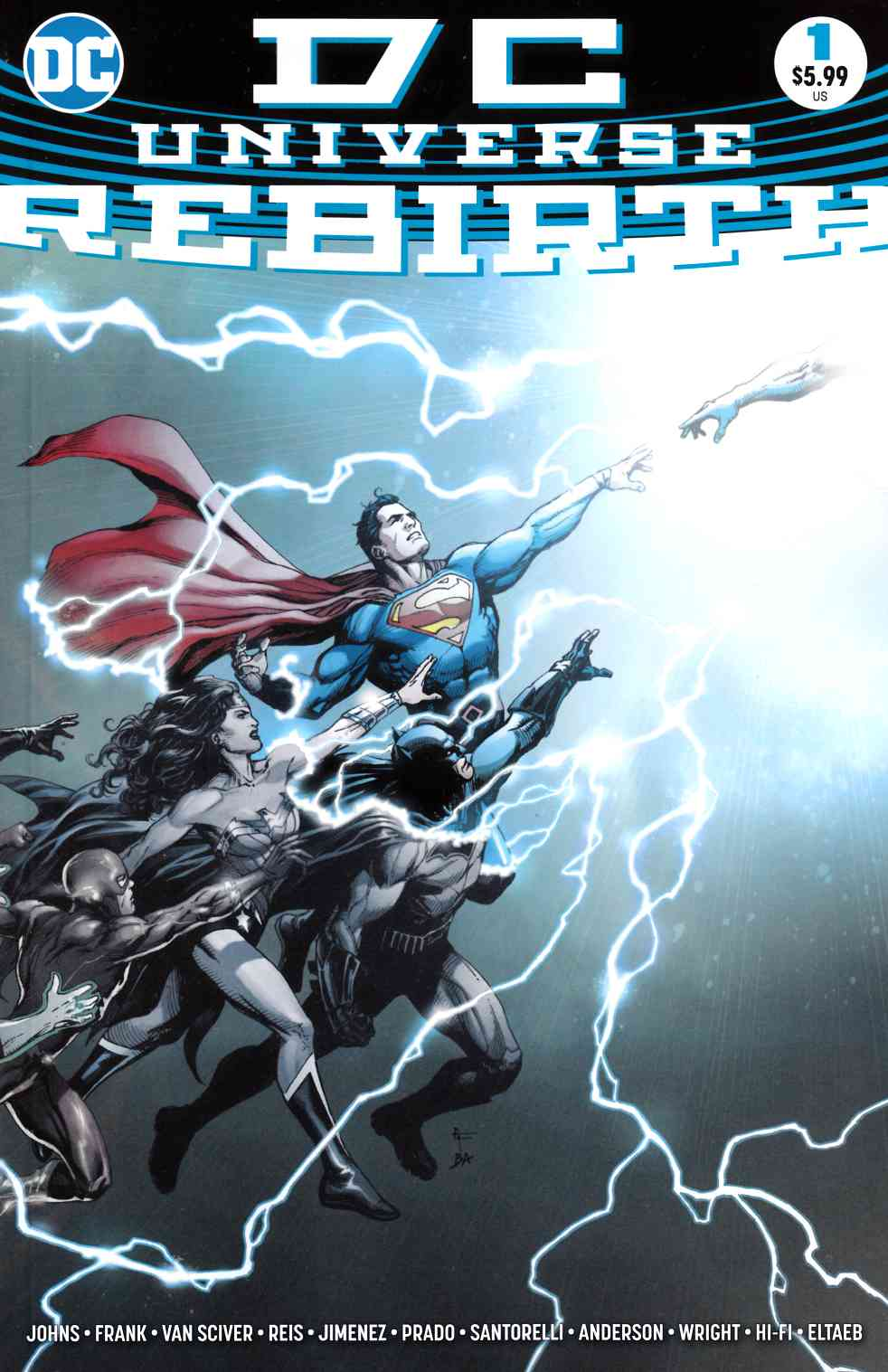 DC Universe Rebirth #1 Second Printing [DC Comic] LARGE