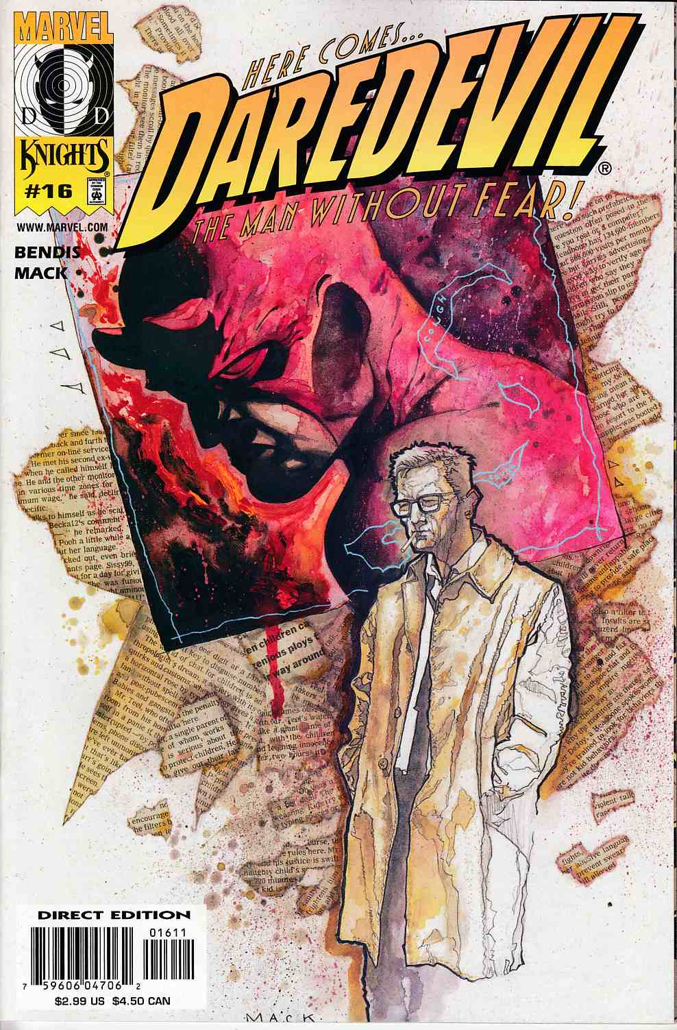 Daredevil #16 Near Mint (9.4) [Marvel Comic] THUMBNAIL